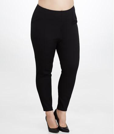 Lyssé: Medium Control Stretch Twill Cigarette Pants Plus Size
