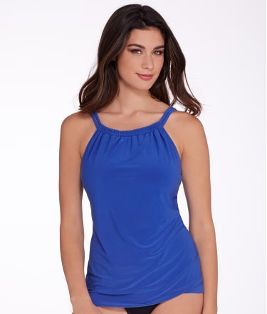 Miraclesuit: Solid Shoreline  Tankini Top