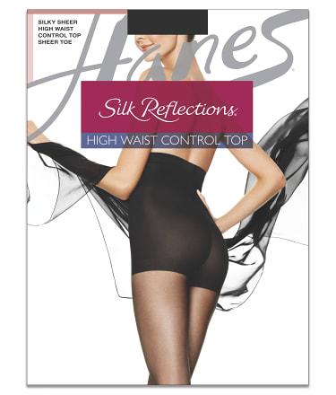 hanes silk reflections high waist control top pantyhose hosiery shapewear ob184 at. Black Bedroom Furniture Sets. Home Design Ideas