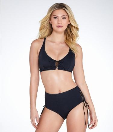 Pour Moi: LBB Lace-Up Bikini Top
