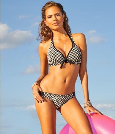 Pour Moi: Checkers Halter Bikini Top