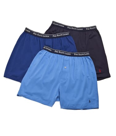 Polo Ralph Lauren: Classic Cotton Knit Boxer 3-Pack