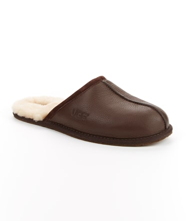 UGG: Men's Scuff Leather Slippers