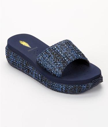 Volatile: Danni Slide Wedge Flip Flops