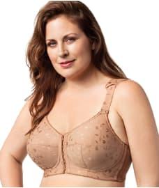 Elila Lexington Jacquard Front-Close Wire-Free Bra