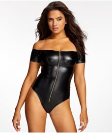 Frederick's of Hollywood Regan Faux Leather Bodysuit