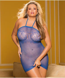 Shirley of Hollywood Plus Size Micro Net Chemise