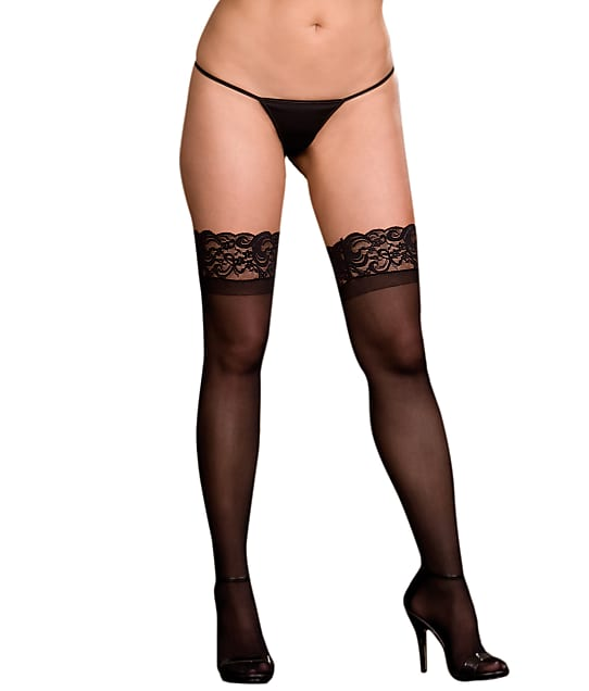 Dreamgirl: Plus Size Lace Top Stockings