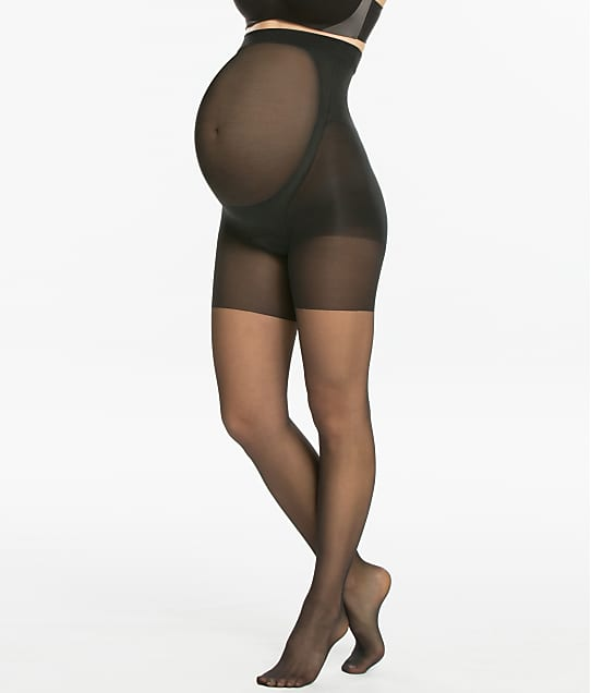 SPANX Mama Mid-Thigh Shaping Sheers in Black 015