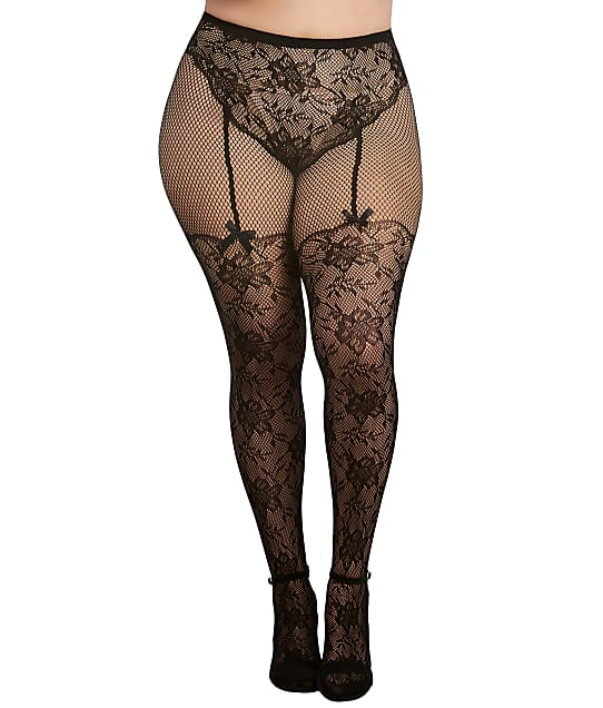 Dreamgirl: Plus Size Lace Tights