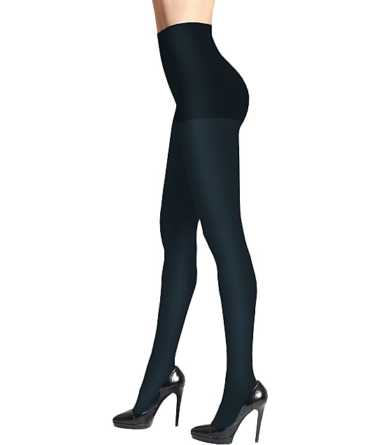 DKNY Opaque Control Top Tights in Navy Blue 0A729