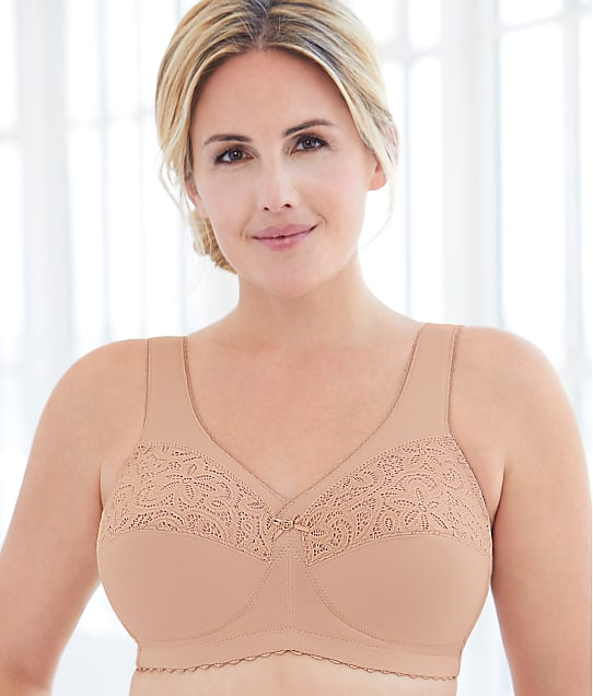 Glamorise: Magic Lift Wire-Free Cotton Support Bra