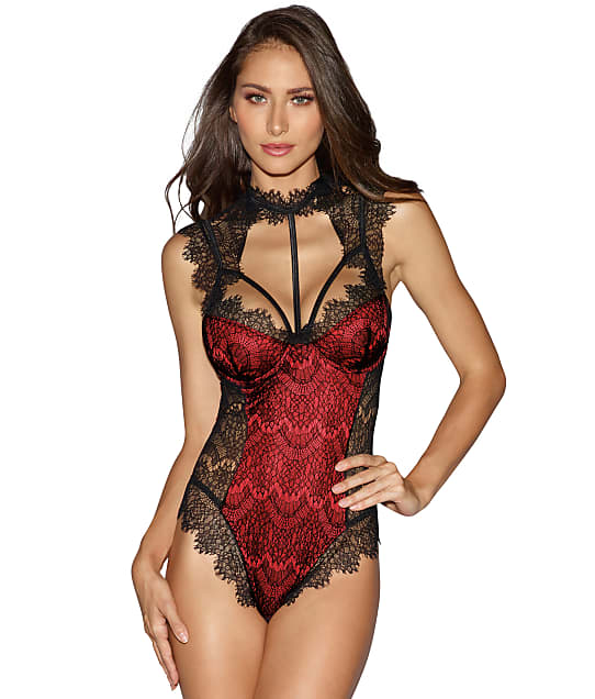 Dreamgirl: High Neck Lace Teddy
