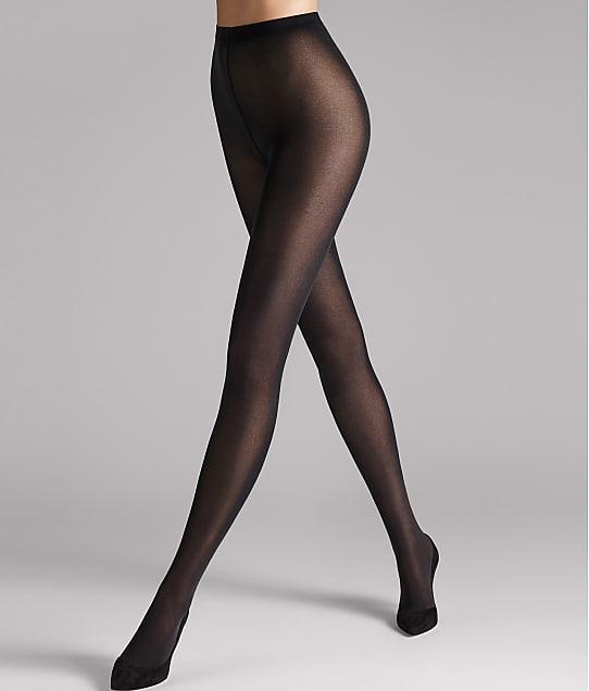 Wolford Velvet de Luxe 50 Denier Tights in Black(Front Views) 106-87