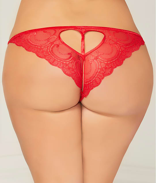 Seven 'til Midnight: Plus Size Cut-Out Crotchless Heart  Tanga