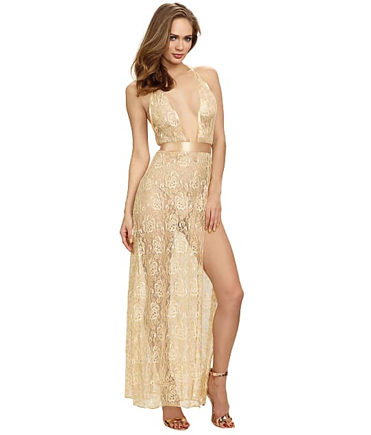 Dreamgirl: Lace Halter Maxi Dress