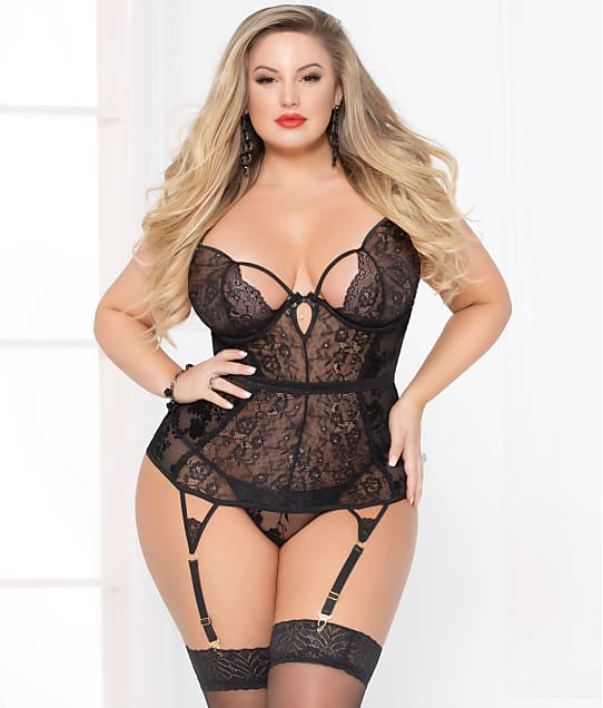 Seven 'til Midnight: Plus Size Simply Gorgeous Bustier Set