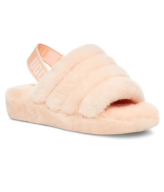 UGG Fluff Yeah Slides in Scallop(Front Views) 1095119-SCLL