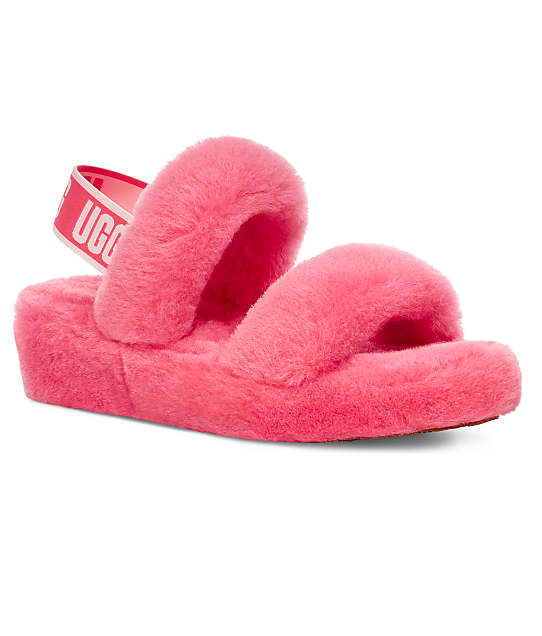 UGG Oh Yeah Slides in Strawberry Sorbet 1107953