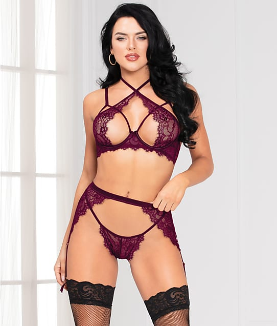 Seven 'til Midnight: Lace 3-Piece Lingerie Set