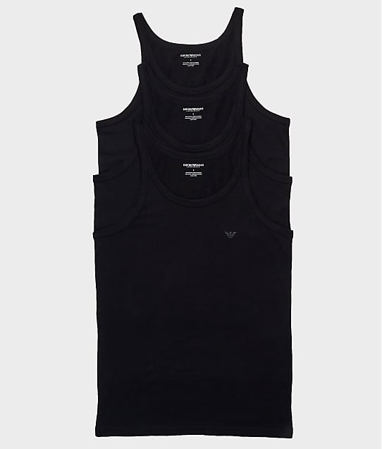 Emporio Armani: Pure Cotton Tank Top 3-Pack