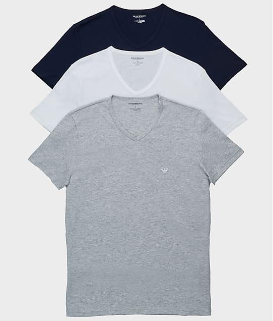 Emporio Armani: Pure Cotton V-Neck T-Shirt 3-Pack