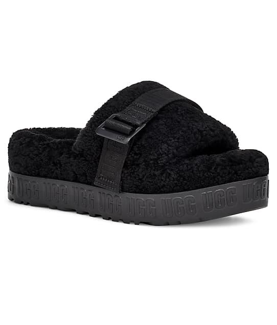 UGG Flufetta Slides in Black 1113475