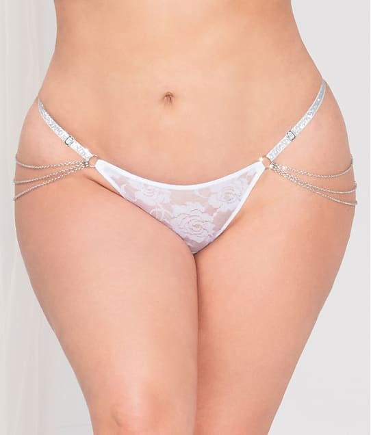 Seven 'til Midnight: Plus Size Lace Chain G-String