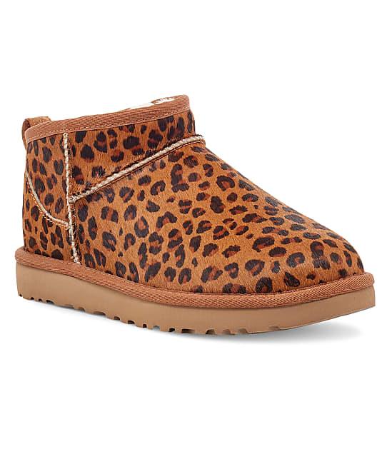 UGG: Classic Ultra Mini Leopard Boots