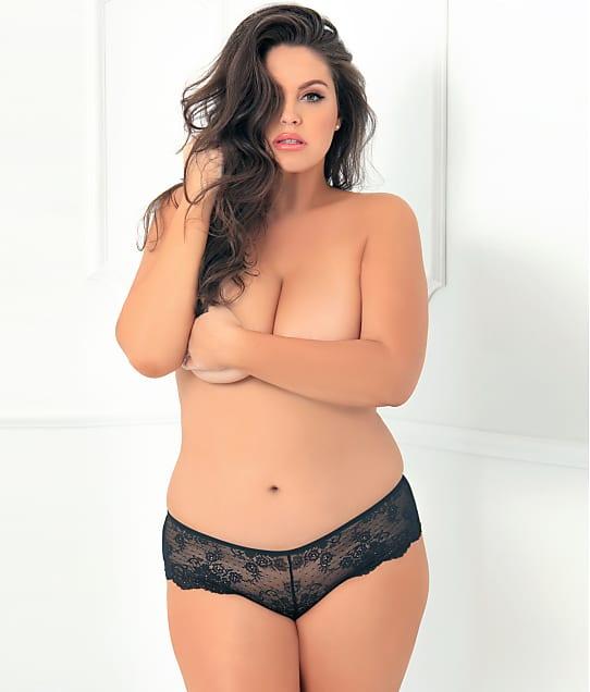 Rene Rofe: Plus Size Deep-V Crotchless Panty