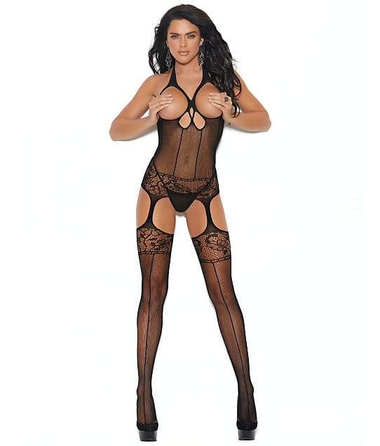 Elegant Moments: Open Cup Garter Chemise Bodystocking