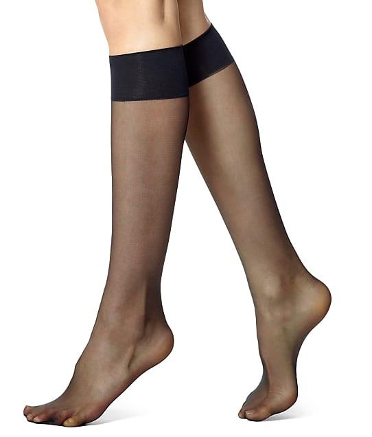 07f93ff3c49af4 HUE SO Silky Sheer Knee Highs 2-Pack | Bare Necessities (12222)