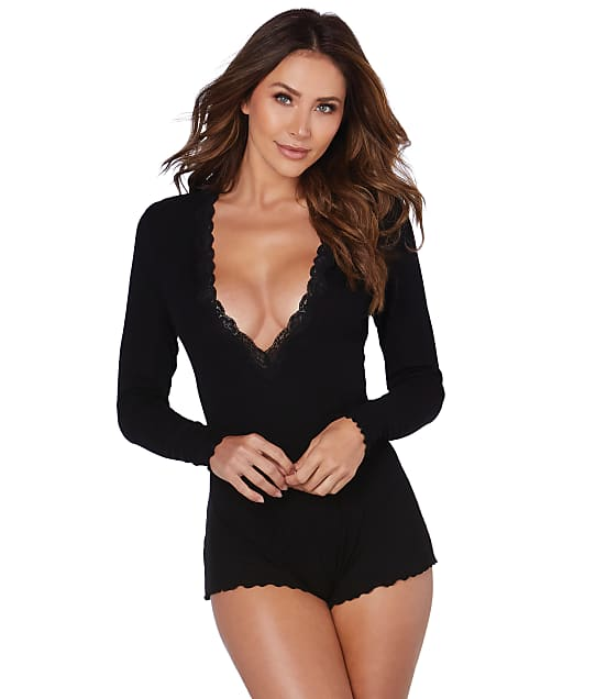 Dreamgirl: Ribbed Knit Sleep Romper
