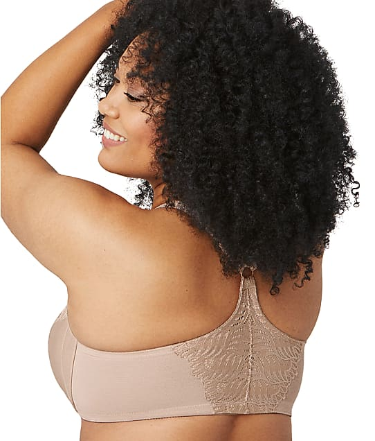 Glamorise WonderWire Front Close T-Back Bra in Cafe(Back Views) 1246