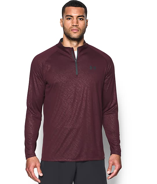 Under Armour: UA Tech Embossed 1/4 Zip-Up