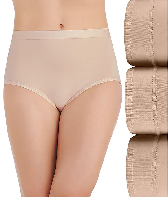 Vanity Fair Comfort Where It Counts Brief 3-Pack in Damask Neutral 13463