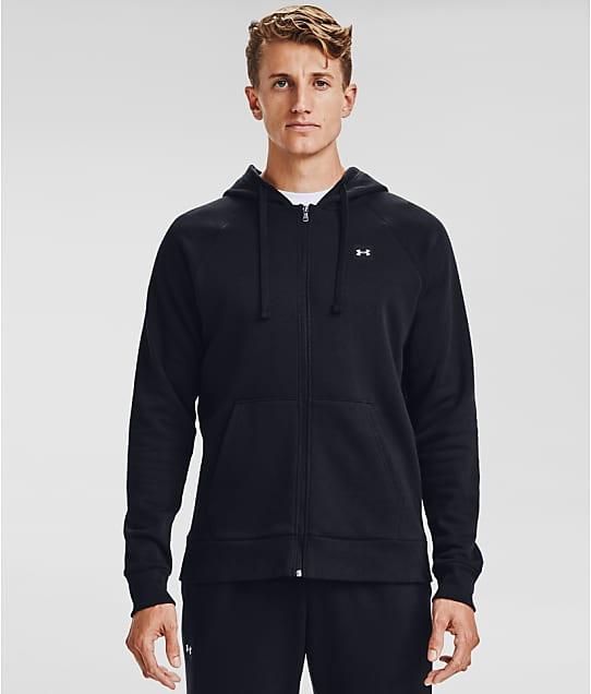 Under Armour Rival Fleece Zip-Up Hoodie in Black 1357111