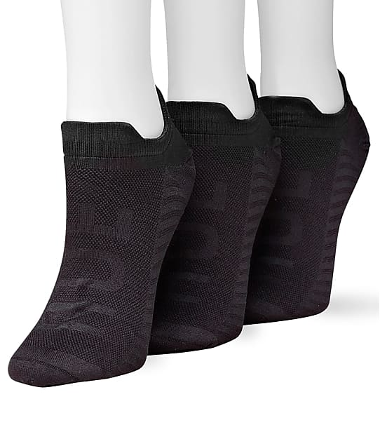 HUE: Microfiber Air Sleek No Show Socks 3-Pack