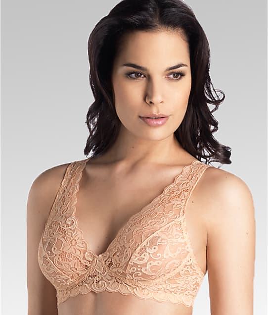 Hanro Luxury Moments Lace Bralette in Beige(Front Views) 1465