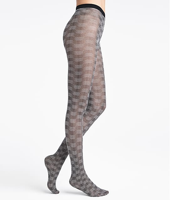 Wolford Granular Poison Tights in Black / White(Front Views) 14761