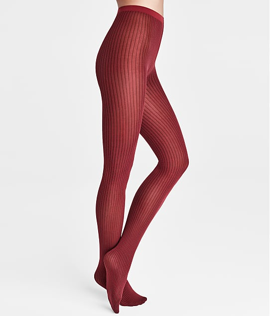 Wolford Haven Tights in Carmine / Black 14825