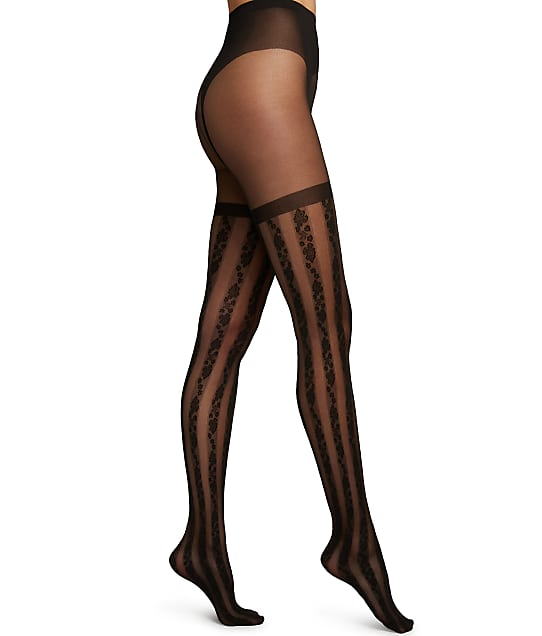 Wolford Ruth Faux Garter Tights in Black 14881