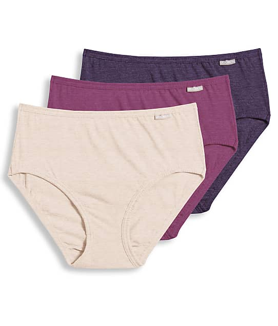 Jockey Elance Hipster 3-Pack in Boysenberry Oatmeal(Front Views) 1488
