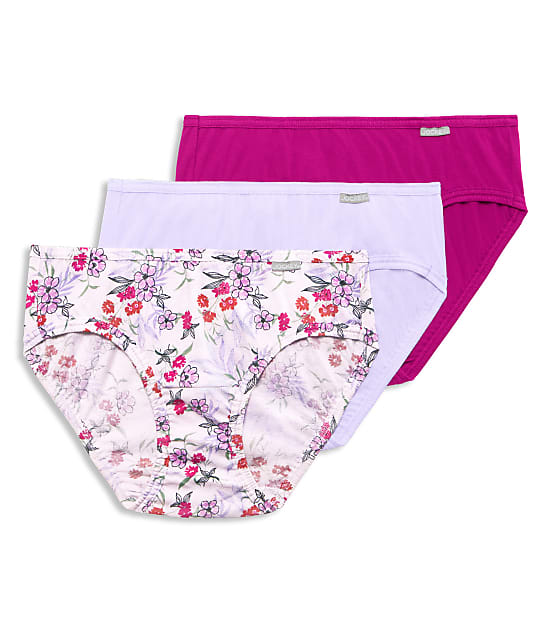 Jockey Elance Bikini 3-Pack in Violet Mist Purple(Front Views) 1489