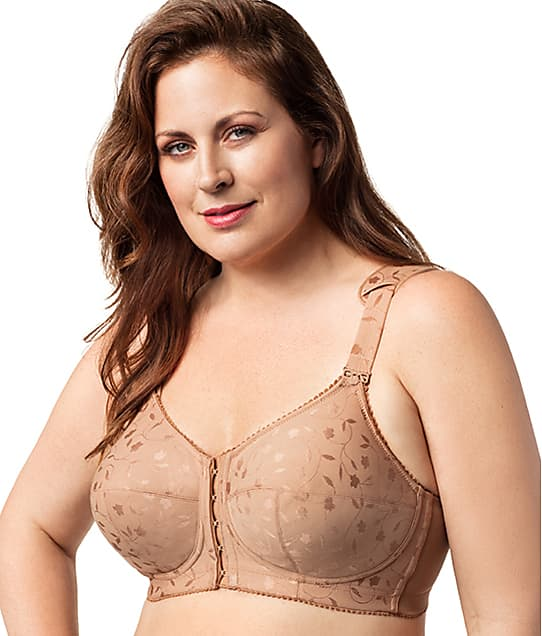 Elila: Lexington Jacquard Front-Close Wire-Free Bra