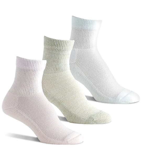 Berkshire: Diabetic Quarter Socks 3-Pack