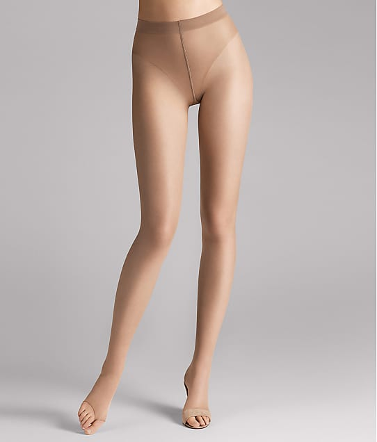 Wolford Luxe 9 Denier Toeless Pantyhose in Cosmetic 170-55