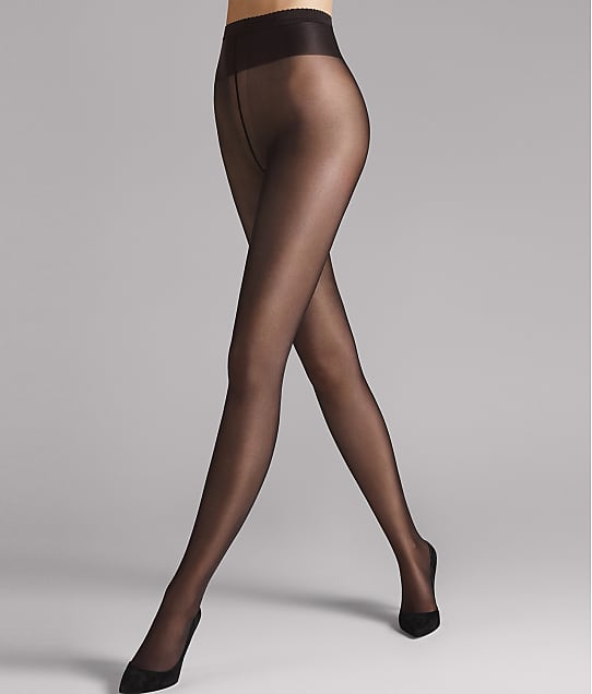 Wolford Neon 40 Denier Shimmer Tights in Nearly Black 183-91
