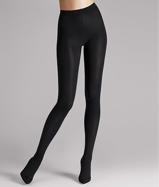 Wolford Matte 80 Denier Opaque Tights in Black(Front Views) 184-20
