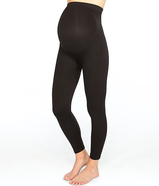 SPANX Plus Size Mama Look At Me Now Leggings in Very Black 20134P